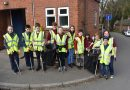 Cubs & Scouts help out at Dunton Bassett Village Tidy Up